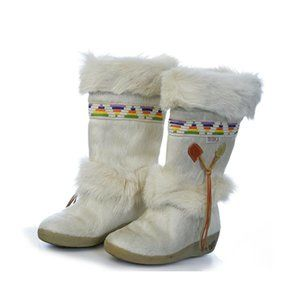 Tecnica Off-White Goat Hair Winter Boots FREE Ship